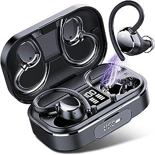 [Aggiornato] Coioc Cuffie Bluetooth Sport, Auricolari Bluetooth con Bassi Profondi, 120 Ore di Riproduzione, Auricolari Stereo con Display LED e Touch Control, Cuffie Wireless In Ear con Mic