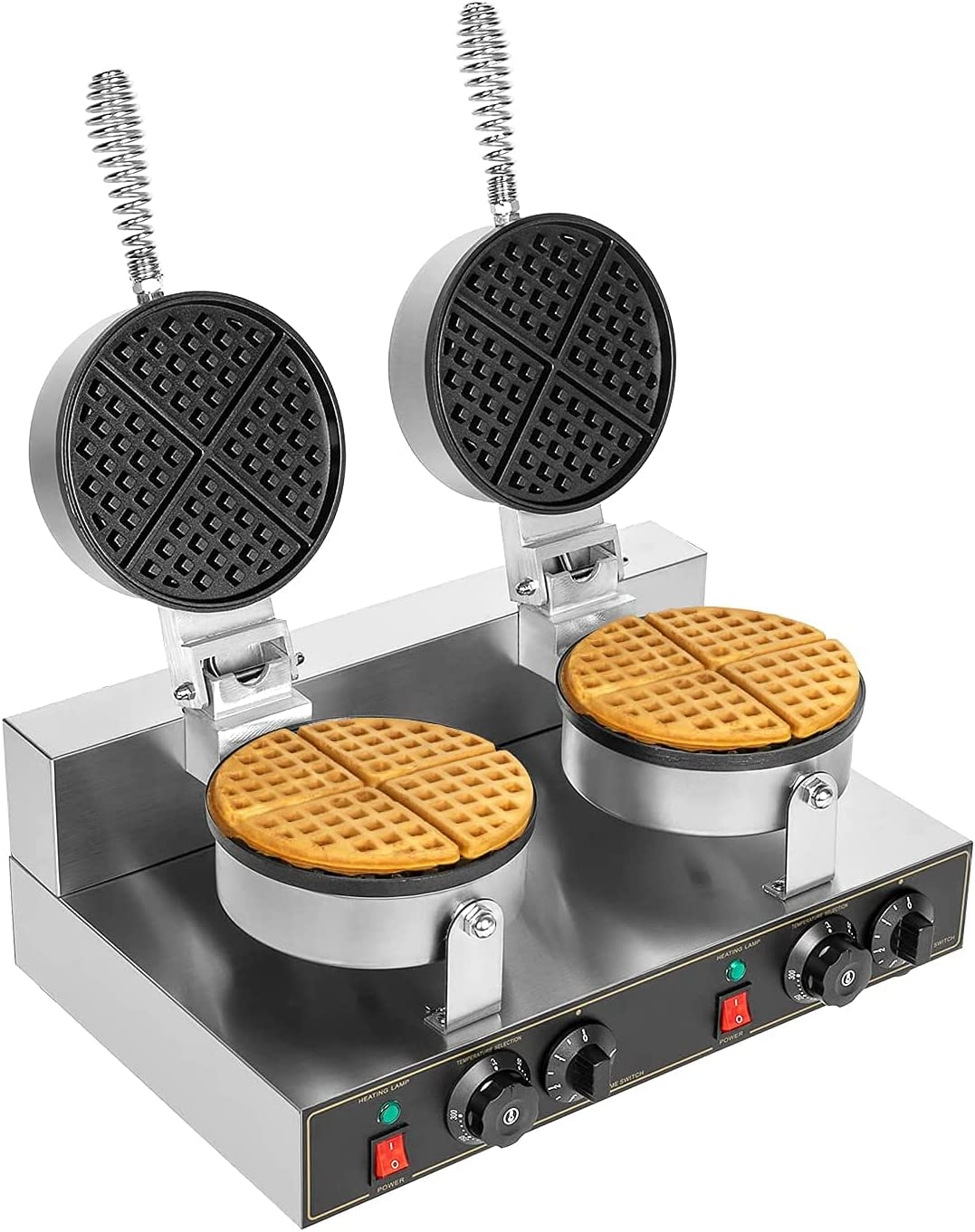 Commercial Belgian Popularity Waffle Max 63% OFF Maker Double Iron 11 Thin Round