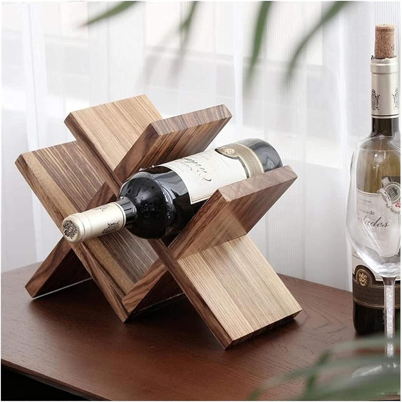 Max 80% OFF ZHJ Wine Organizer Wooden Lattice Genuine Bot Holder Simple Storage