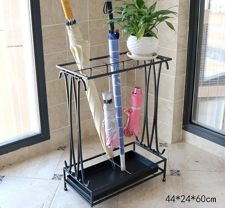Umbrella Storage Umbrella Rack Iron Style European Home Creative Umbrella Rack Umbrella Barrel Storage Barrel Umbrella Hotel Lobby Umbrella seat (color   Black, Size   442460cm)