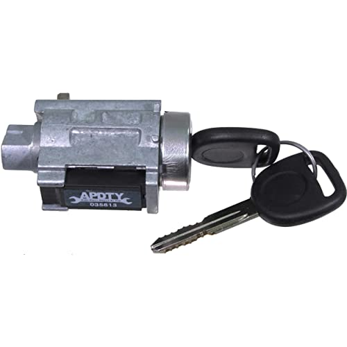 APDTY 035812 /& 035813 Ignition Lock Cylinder /& Starter Switch Housing Combo Kit Includes 2 New Cut Keys; Fixes Security Light Passlock Problem; Replaces D1493F, D1432D, 22670487, 15822350, 25832354
