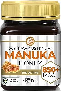 Manuka Honey MGO 850+ (NPA 20+) High Grade Medicinal Strength   Non GMO   Raw   Active   AMHA Certified   250g by Good Nat...