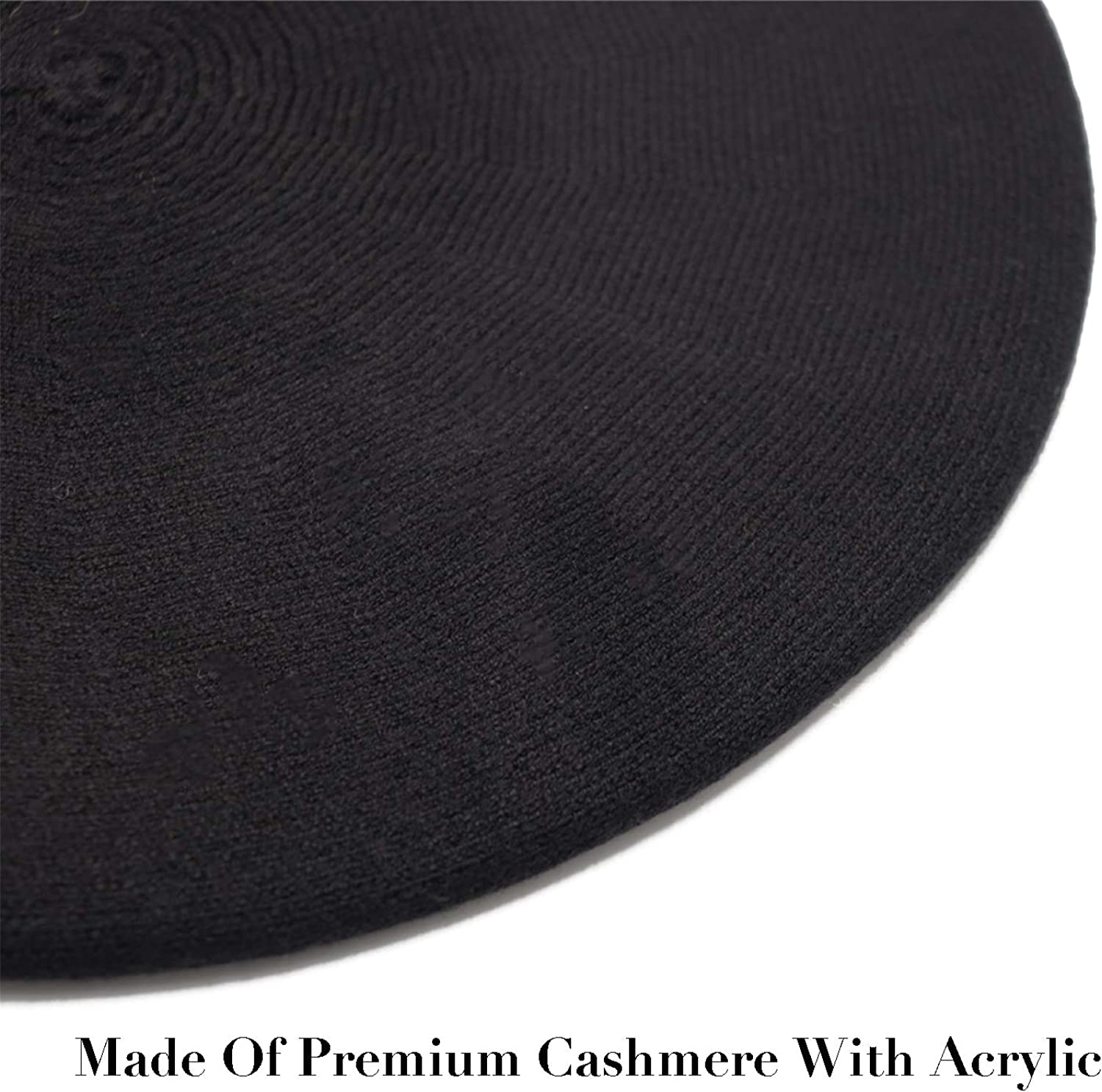 Sydbecs Cashmere Beret Hats for Women Girls, Reversible French Berets Hat Solid Color Style