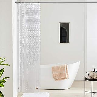 DE Duschvorhang EVA Badewannenvorhang Wannenvorhang 3D Wasserwürfel mit Haken