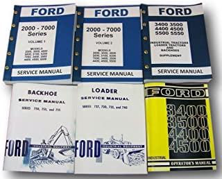 Ford 3400 3500 Loader Backhoe Tractor Service Repair Shop Manual Owner Operators