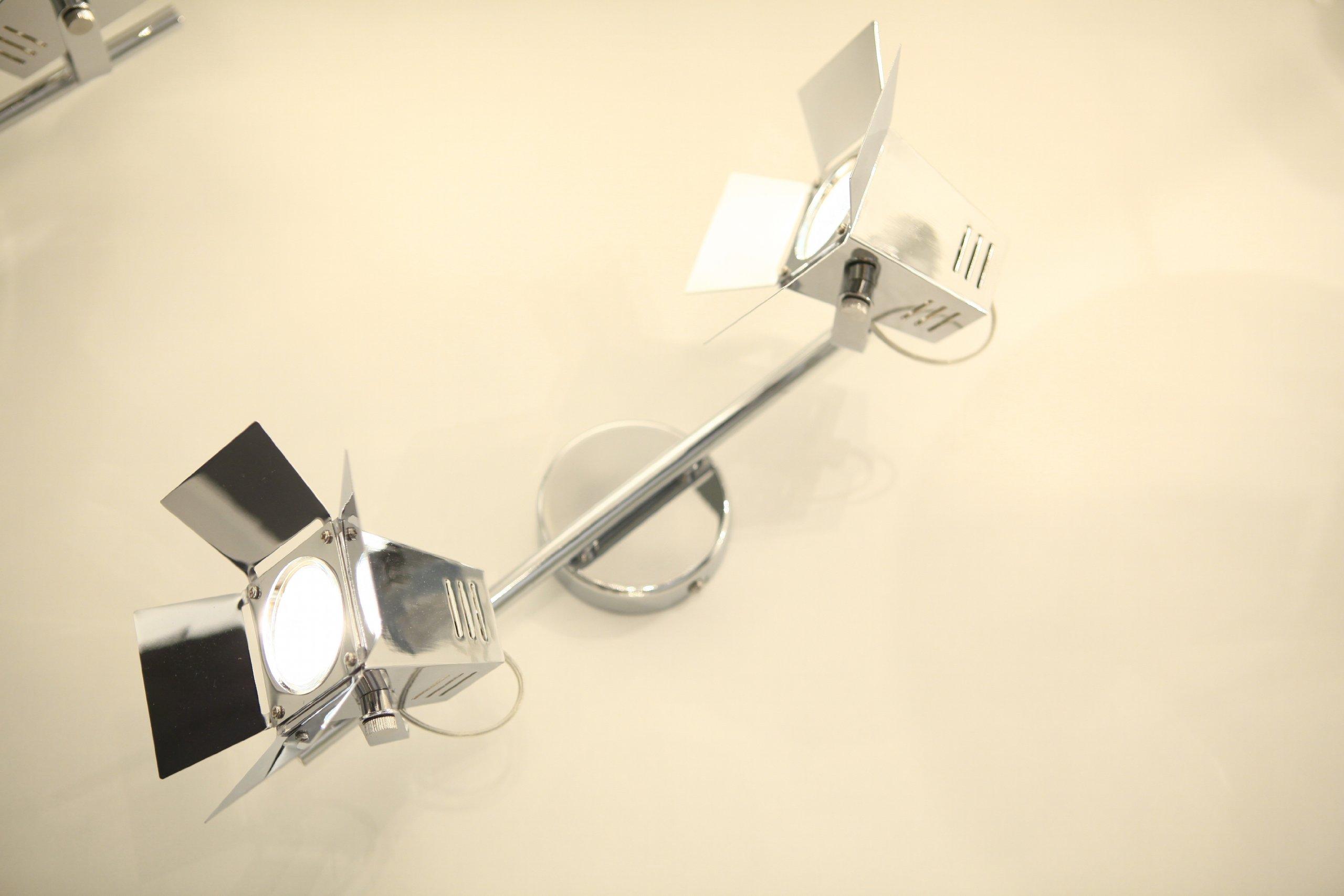 Brilliant G07813/15 - Lámpara de techo, diseño de 2 focos de cine ...