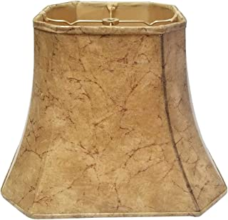 Royal Designs Square Cut Corner Bell Basic Lamp Shade, Faux Rawhide, 9 x 16 x 13