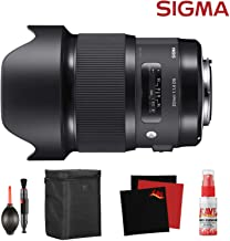 Sigma 20mm f/1.4 DG HSM Art Lens for Nikon F (412955) and Cleaning Accessories Bundle