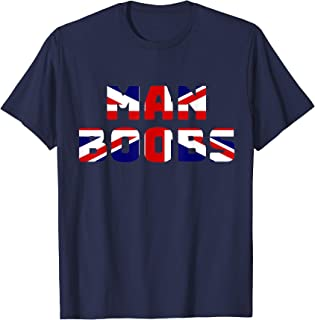 Moobs, Union Jack Flag, Man Boobs Dad Shirt, British Flag T-Shirt