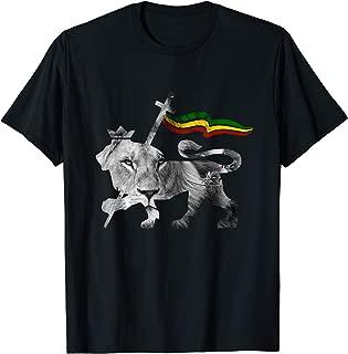 Lion of Judah Rasta Reggae Roots Clothing T Shirt Tee