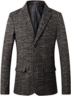 YOUTHUP Mens Business Suit Jacket Single Breasted 2 Button Slim Blazer Casual Outwear Coat Yellow
