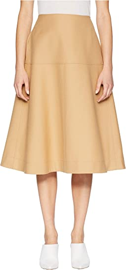 A-Line Skirt with Lined Yoke and Back Pockets