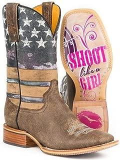 Women's Tin Haul American Woman Boots W Shoot Like A Girl Sole