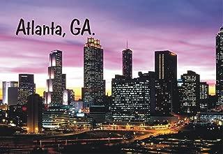 Atlanta, Georgia, Night Skyline, City, Buildings, GA, Souvenir Magnet 2 x 3 Fridge Magnet