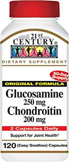 21st Century, Joint Health Support, Glucosamine 250 mg Chondroitin 200 mg Original Strength, 120 Easy to Swallow Capsules