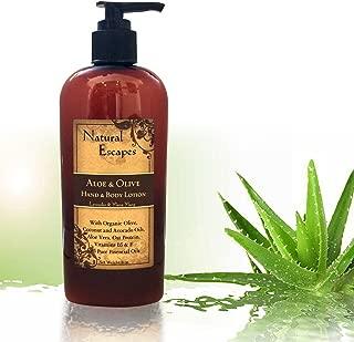 Organic Lavender Lotion w/Aloe Vera, Olive Oil, Coconut Oil & Avocado Oil | Organic Body Lotion & Hand Cream for Dry Skin, Itchy Skin, Eczema, Psoriasis & More! | Rich Moisturizer for Soft Skin | 8oz