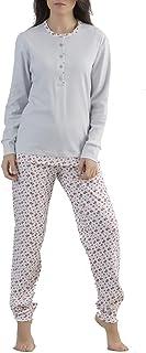 Pigiama Donna Cotone Jersey IRGE MI479 Manica Lunga e Pantalone Lungo L Misure: S XL M ROSA//MALVA, S