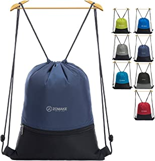 ZOMAKE Cordón Mochila Bolsa Sackpack Impermeable Deporte Gimnasio Saco Bolsas de Cuerdas Gymsack Backpack para Hombre y Mujer
