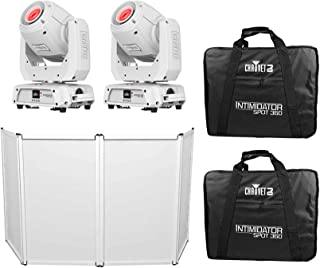 (2) Chauvet Intimidator Spot 360 IRC WHT 100w Moving Heads+(2) Cases+Faade