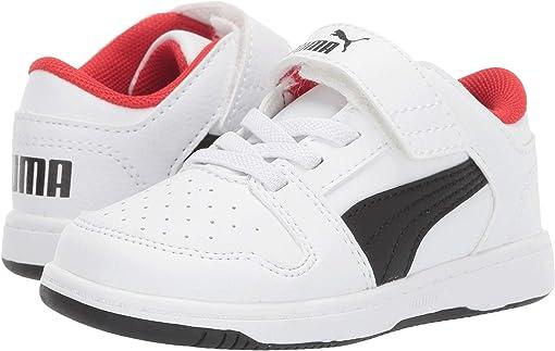 Puma White/Puma Black/High Risk Red