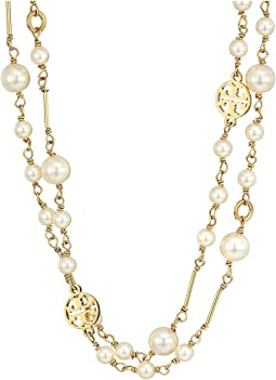 Tory Burch Crystal Pearl Convertible Necklace