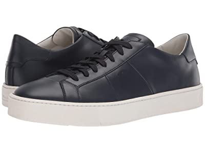 Santoni Jannas Lace Up Sneaker (Navy) Men
