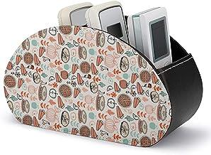 Pour contrôleur multimédia - Support de télécommande avec 5 compartiments - Cuisson en cuir PU Tartes alimentaires Cuisine...