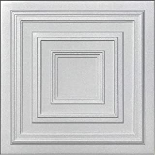 Antyx White (Foam) Ceiling Tile - 40pc Box - Decorative Ceiling Tile Easy Glue up DIY