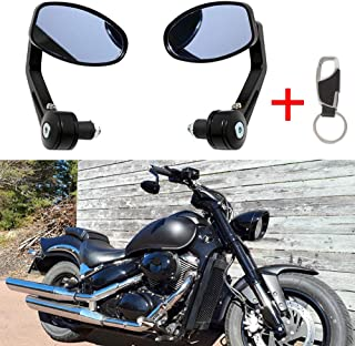 Handlebar Mirrors Motorcycle 7//8 22MM Universal Handlebar End Rearview Mirror Aluminum Alloy for MT 07 MT 09 ATV S1000 FZ8 G310R R1200 GSXR/…