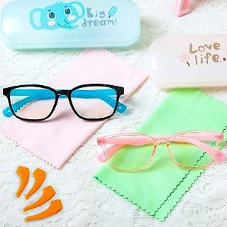 Blue Light Blocking Glasses for Kids Children,2 Pack Anti-Eyestrain Computer Gaming Eyeglasses Flexible Silicone,Anti UV B...