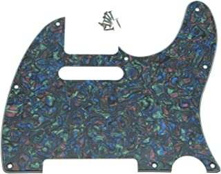 KAISH 8 Hole Tele Guitar Pickguard fits USA/Mexican Fender Telecaster Abalone Pearl