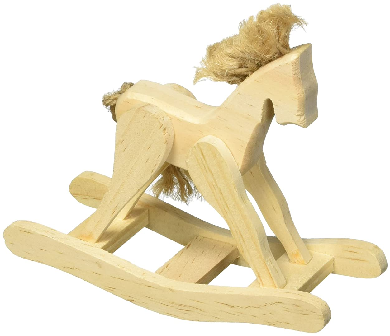 Darice 9129-35 Unfinished Rocking Horse with Jute Accents, 4.5/8-Inch ikyf797691298