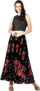 Label RITU KUMAR Velvet a-line Skirt (SKRMVVT00N18860663_Black_X-Small)