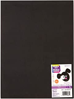 Darice Bulk Buy DIY Foamies Extra Thick Foam Sheet Black 6mm Thick 9 x 12 inches (10-Pack) 1199-21
