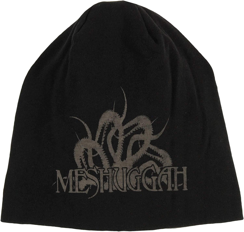 Meshuggah Men's 在庫一掃売り切りセール 別倉庫からの配送 Logo Black Beanie Spine
