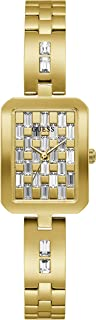 GUESS Women's Quartz Watch with Stainless Steel Strap, Gold, 12 (Model: GW0102L2)