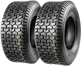 Set of 2 16x6.50-8 16/6.50-8 16-6.50-8 16x650x8 Turf Tires 4Ply Tubeless Replacement for John Deere Lawn Tractor Turf Saver