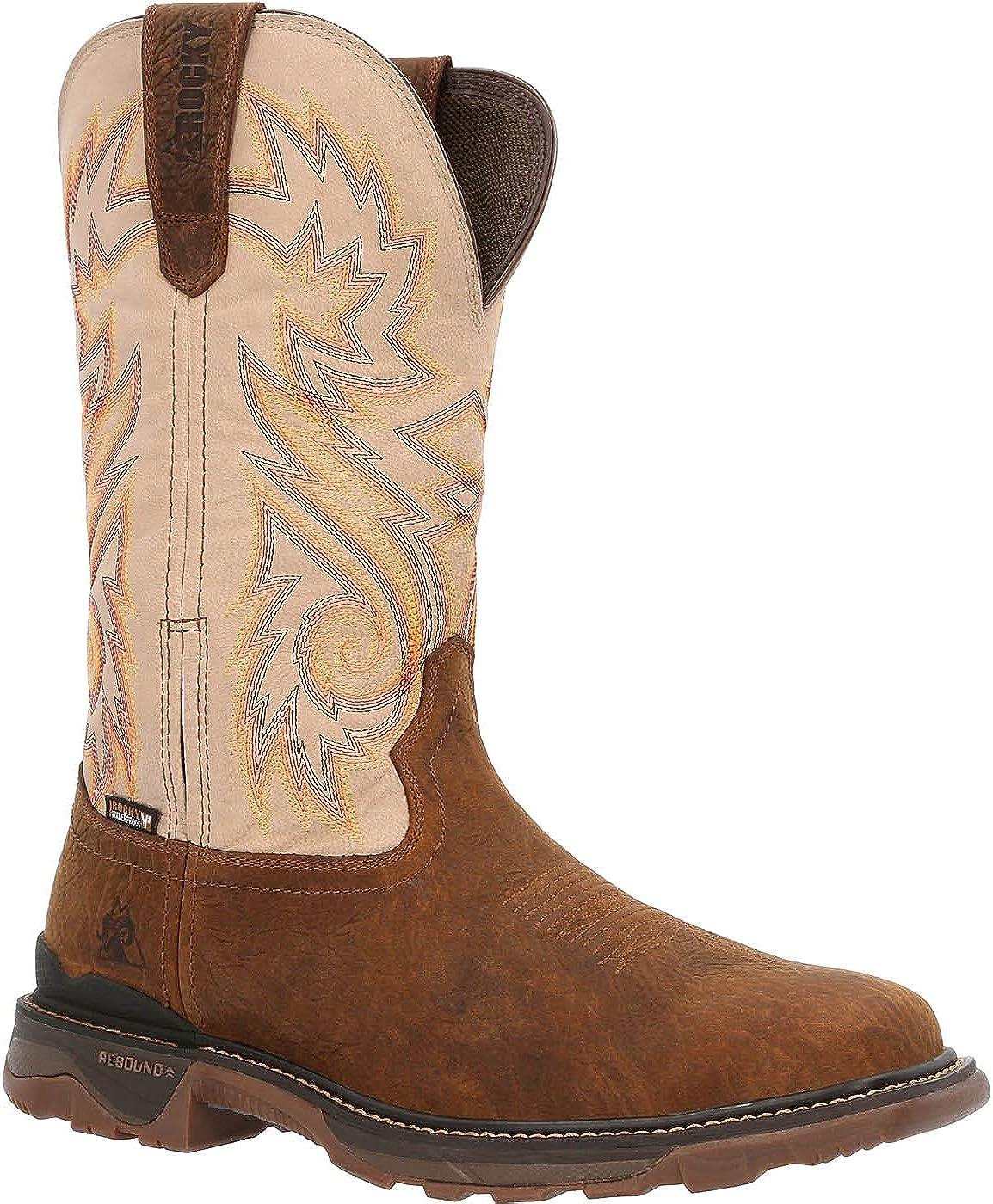 Rocky Carbon 6 Waterproof Western Boot Size 8(W)