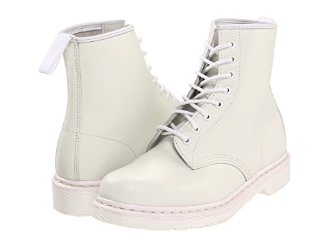 8 1460 Tie Black Boot Smooth Dr SmoothWhite Martens gRwqSfn8