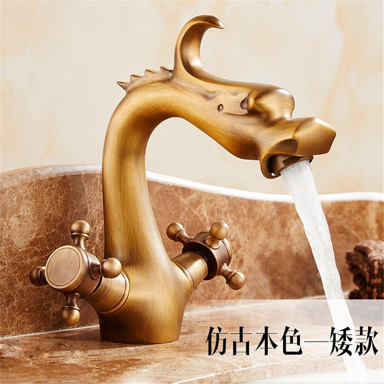 Good quality Antiquitten Becken Spül Mischer Tap Wasserhahn des vollen kupfernen antiken Wasserhahnbeckens Retro- Hahn