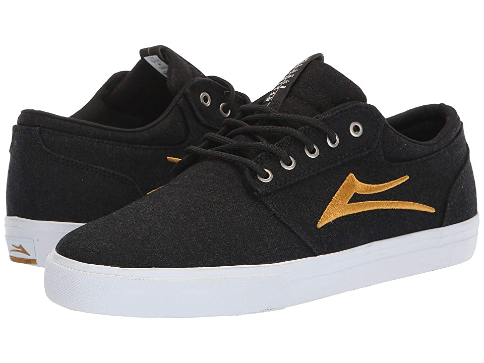 Lakai Griffin (Black/Gold Textile) Men