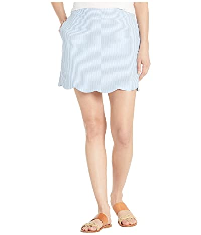Vineyard Vines Seersucker Scallop Skort (Cornflower) Women