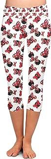 Rainbow Rules Minnie Bows and Mouse Ears Disney Inspired Yoga Leggings - Capri 3/4 Length, Low Waist