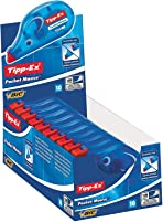 Tipp-Ex Pocket Mouse Correction Tapes – Extra Tear-Resistant Plastic Tape - Protective Cap - 10 m, Box of 10