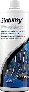 Seachem Stability Fish Tank Stabilizer - For Freshwater and Marine Aquariums 1L