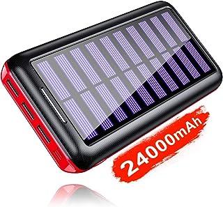 KEDRON Power Bank 24000mAh con 2 Entrada y 3 Salida USB, Cargador Móvil Portátil Batería Externa para Smartphones, Tablets y más (Solar Power Bank)