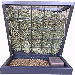 Rugged Ranch Powder Coated Steel 3-in-1 Wall Feeder - For Hay Grain or Salt - H: 12