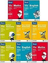 Bond 11+:Assessment Papers Book 2 Year 9-11 Bundle -8 Books Collection Set :English, Maths, Non-verbal Reasoning, Verbal Reasoning