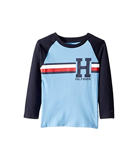 52768329 Tommy Hilfiger Kids Matt Long Sleeve Crew Neck Raglan (Toddler ...