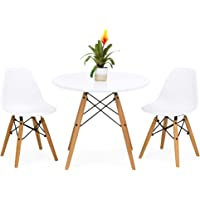 BCP Kids Eames Style Dining Table Set w/ 2 Armless Chairs